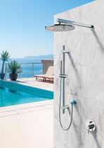 Grifo monomando para ducha / encastrable / de acero inoxidable / de exterior