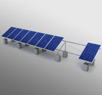 Estructura de soporte en suelo / para módulo fotovoltaico