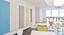 Panel acústico mural / de textil / de diseño / para oficina