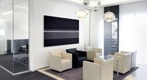 Panel acústico mural / de textil / impreso / para oficina