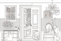 Papeles pintados clásicos / con motivos / con dibujos a mano / sin tejer