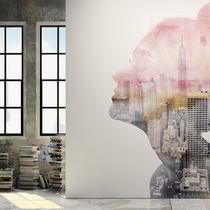 Papeles pintados modernos / de vinilo / con motivos de la naturaleza / con motivos urbanos