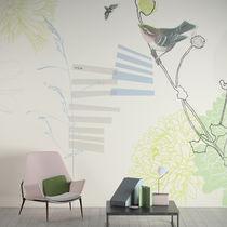 Papeles pintados modernos / de vinilo / con motivos florales / con motivos geométricos