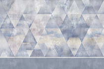 Papeles pintados modernos / de vinilo / con motivos geométricos
