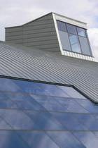 Cubierta de zinc / ondulada / estanca