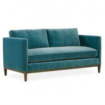Sofá moderno / de cuero / 3 plazas / marrón
