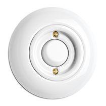 Interruptor con boton pulsador / de porcelana / moderno