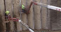 Geocompuesto para drenaje / de polietileno / para muro