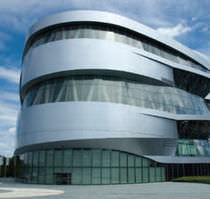 Revestimiento de fachada de aluminio / de metal / reflectante / en placas