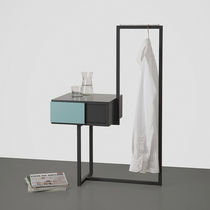 Mesilla de noche moderna / de metal / de MDF / rectangular