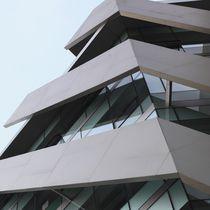Revestimiento de fachada de cerámica / texturado / aspecto metal / para fachada ventilada