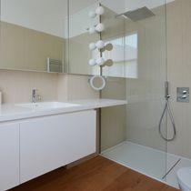 Revestimiento de pared de fibra de madera / para uso residencial / brillante / aspecto mármol