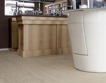 Pavimento de cerámica / para uso profesional / en losas / brillante