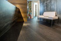 Revestimiento de pared de fibra de madera / para uso residencial / brillante / aspecto metal