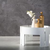 Enlucido decorativo / para muro / resina sintética / aspecto metalizado