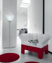 Lámpara de pie / moderna / de acero / de plástico