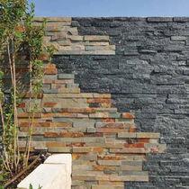 Plaqueta de fachaleta de piedra reconstituida / de exterior