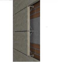 Sistema de fijación metal / de acero inoxidable / para revestimiento / para fachada ventilada