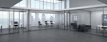 Tabique amovible / acristalado / para oficina / de uso profesional