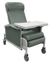 Sillón médico de poliuretano / con ruedas / con mesita / reclinable