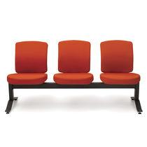 Hileras de sillas de tela / de metal / 3 plazas / de interior
