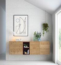 Aparador mural / moderno / de roble