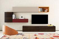 Mueble TV moderno / de madera lacada / de roble