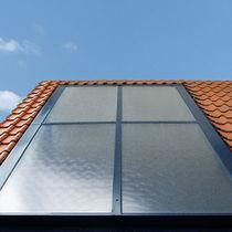 Colector solar térmico plano / para calefacción / de aluminio / para tejados