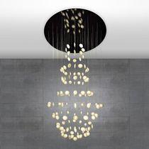 Lámpara araña moderna / de papel