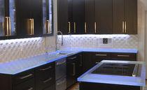 Encimera de vidrio / para cocina / antibacterias / antimanchas