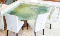 Tablero de mesa de vidrio / para restaurante