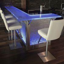 Mueble bar profesional / moderno / de vidrio / a medida