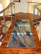 Panel de vidrio para pavimento / antideslizante
