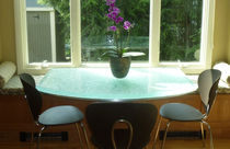 Mesa moderna / de vidrio