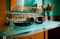 Encimera de lavabo de vidrio