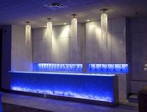 Mostrador de bar / de vidrio / recto / con luz