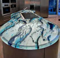 Encimera de vidrio / para cocina / a prueba de calor / de diseño original