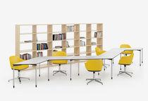 Mesa de conferencia moderna / de metal / rectangular / modular