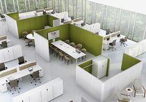 Separador para oficina para suelo / de acero / de tejido / modular