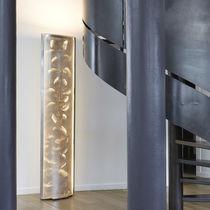 Columna luminosa moderna / de acero inoxidable / LED / de interior