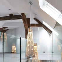 Lámpara suspendida / moderna / de acero inoxidable pulido / de interior