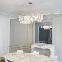 Lámpara suspendida / moderna / de acero inoxidable / de interior