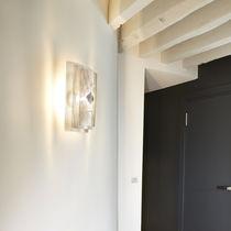 Aplique moderno / de acero inoxidable / de halógeno / rectangular
