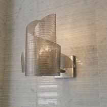 Aplique moderno / de acero inoxidable / de halógeno