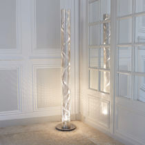 Columna luminosa moderna / de acero inoxidable / LED / halógena