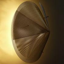 Aplique moderno / de acero inoxidable / LED / de halógeno
