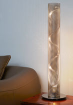 Lámpara de mesa / moderna / de acero inoxidable / de interior