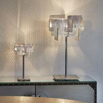 Lámpara de mesa / moderna / de acero inoxidable pulido / de interior