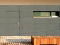 Revestimiento de fachada de hormigón reforzado con fibra / pulido / de panel / de gran formato