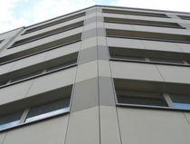 Revestimiento de fachada de hormigón reforzado con fibra / pulido / de panel / aspecto hormigón